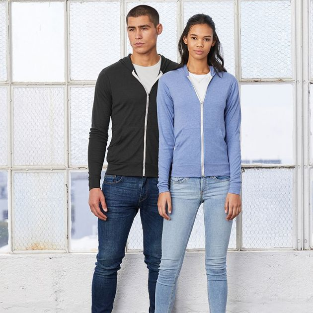 Bella & Canvas | Unisex TriBlend Lightweight Hoodie BE108 | Hooded Sweatshirt
